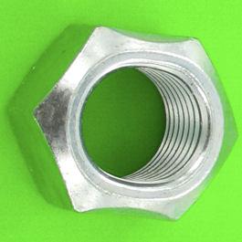 Dado frenato interamente metallico acciaio zincato bianco Din 980