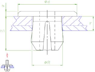 Araymond - Clip Plastique Pour Panneaux - Plastic Panel Clips