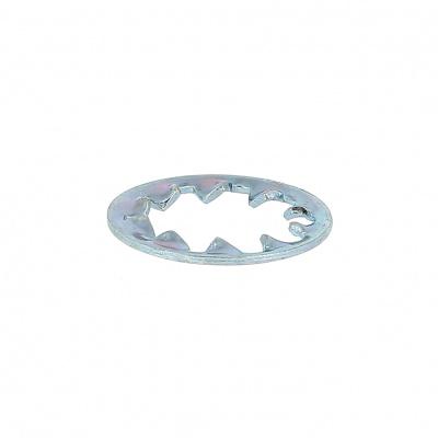 Rondella dentata acciaio zincato bianco Din 6797J